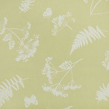 Sage Green Moorland Floral Design PVC Oilcloth