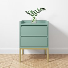 Sage Two Drawer Bedside Table - Zion