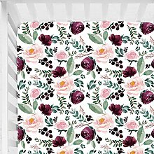 Sahaler Baby Floral Fitted Crib Sheet for Boy and