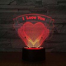 Said LED Desk Lamp Touch 3D7 Colours I Love You
