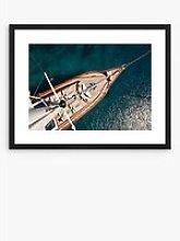 Sail Boat - Framed Print & Mount, 66 x 86cm, Blue