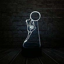 Sailboat 7 Color lamp 3D Visual LED Night Lights