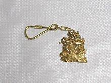 Sailing Ship Keyring, Brass - Key Ring / Gift /