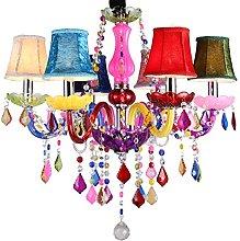 SAILUN 6 Light Crystal Chandelier Classic Vintage