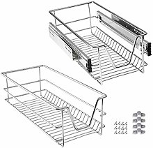 SAILUN Pull-Out Wire Baskets 300mm Wide Cabinet