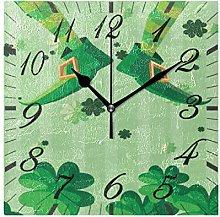 Saint Patricks Day Ireland Wall Clock Silent Non