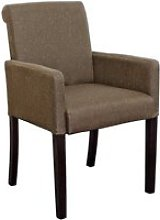 Saiph Fabric Upholstered Carver Dining Chair In