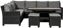 Sakath 6 Seater Rattan Corner Sofa Set Sol 72