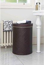 Salcombe Round Wicker Laundry Bin Symple Stuff