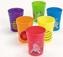 Sale - 12 Easter Themed Plastic Party Cups |