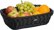 Saleen Rectangular Basket, polypropylene, Black,