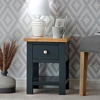 Salisbury Blue Painted Oak Slim Lamp Table