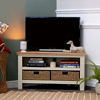 Salisbury Ivory Painted Oak Corner TV Unit with