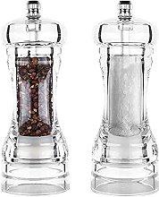 Salt And Pepper Grinder Kit, Acrylic Salt Pepper