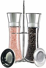 Salt and Pepper Grinder Mill Set with a Stainless