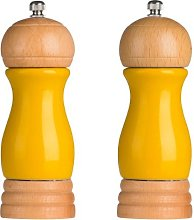 Salt And Pepper Mill Set Rubber-wood High Gloss