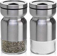 Salt and Pepper Shakers Stainless Steel & Glass