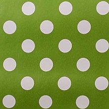 SALT and PEPPY, Wipe Clean PVC Green Polka Dot