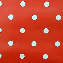SALT and PEPPY, Wipe Clean PVC Red Polka Dot Vinyl