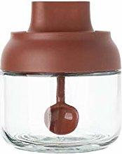 Salt MSG Seasoning jar, Glass Household lid Spoon