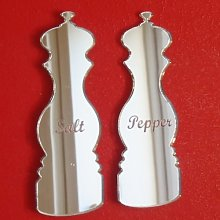 Salt & Pepper Mill Mirrors (Engraved) - 12cm x 8cm
