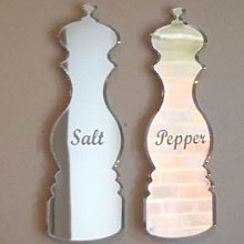Salt & Pepper Mill Mirrors (Engraved) - 45cm x 33cm