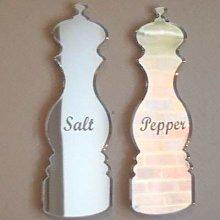 Salt & Pepper Mill Mirrors (Engraved) - 50cm x 37cm
