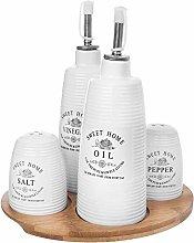 Salt Pepper Oil Set Salt Pepper and Vinegar Sets