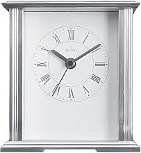 Saltaire Silver Metal Table Clock Acctim