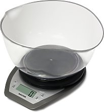 Salter Aquatronic Kitchen Scale and Bowl - Silver.