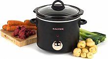 Salter EK2623RG Rose Gold Slow Cooker with Three