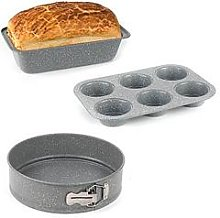 Salter Marble Collection Bakeware Set With Loaf