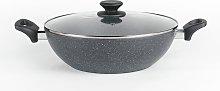 Salter Marblestone 30cm Easypour Family Pan
