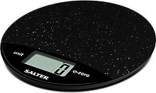 Salter Round Marble Digital Kitchen Scale - Black