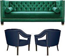 Salvador 3 Piece Sofa Set BelleFierté Upholstery