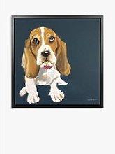 Samantha Barnes - Beagle Dog Framed Canvas Print,