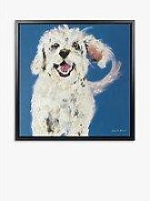 Samantha Barnes - Bichon Frise Dog Framed Canvas