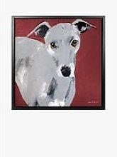 Samantha Barnes - Greyhound Dog Framed Canvas