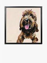 Samantha Barnes - Labradoodle Dog Framed Canvas