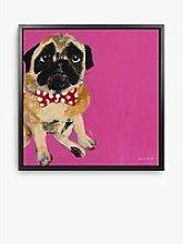 Samantha Barnes - Pug Dog Framed Canvas Print, 54