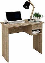 Samblo Hana Desk with Drawer, Oak, Melamine, 90 cm