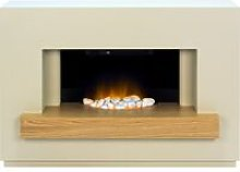 Sambro Fireplace Suite in Stone Effect with Oak