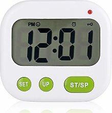 Samfox Vibration Alarm Clock, Music Digital LCD