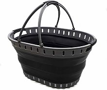 SAMMART Collapsible Plastic Laundry Basket -