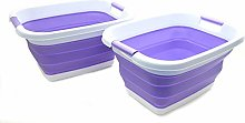 SAMMART Set of 2 Collapsible Laundry Basket/Tub -