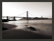 San Francisco Golden Gate in Black and White 3.09m