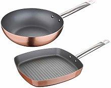 San Ignacio 2 Piece Set: 26 cm Wok + Grill Pan 28