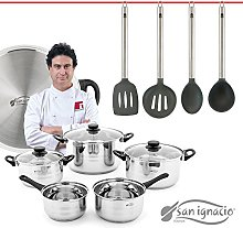 San Ignacio Masterpro 8 Piece Cookware Set with