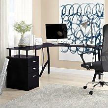 San Mateo L-Shape Executive Desk Zipcode Design