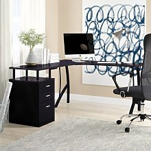 San Mateo L-Shape Executive Desk Zipcode Design